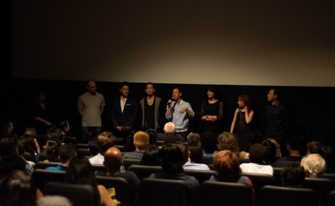Director Ray Leung speaks in a cast Q&A after the film showing.